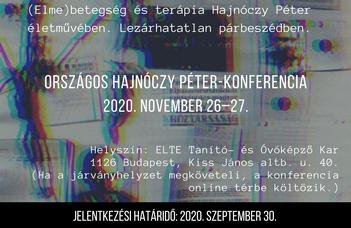 Konferenciafelhívás az Országos Hajnóczy Péter-konferenciára (2020. november 26–27.)