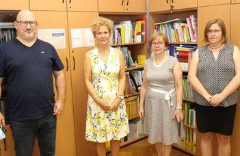 Edita Partová, a Pozsonyi Comenius Egyetem Pedagógia Karának dékánja volt vendégünk