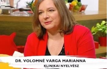Vendégünk volt dr. Volomné Varga Marianna, klinkiai nyelvész