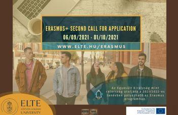 Erasmus+ Second call for application 2021/22