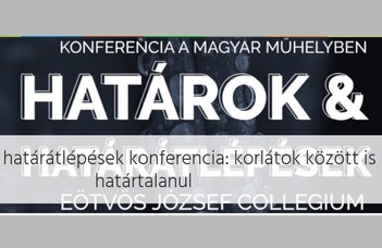 Tanszékünk hallgatója az Eötvös Collegium konferenciáján